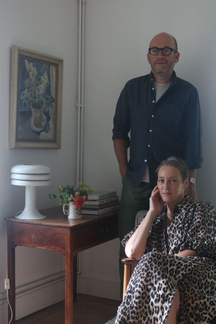 ictoria Suffield and Phil Webb, at home, Winchester, England.