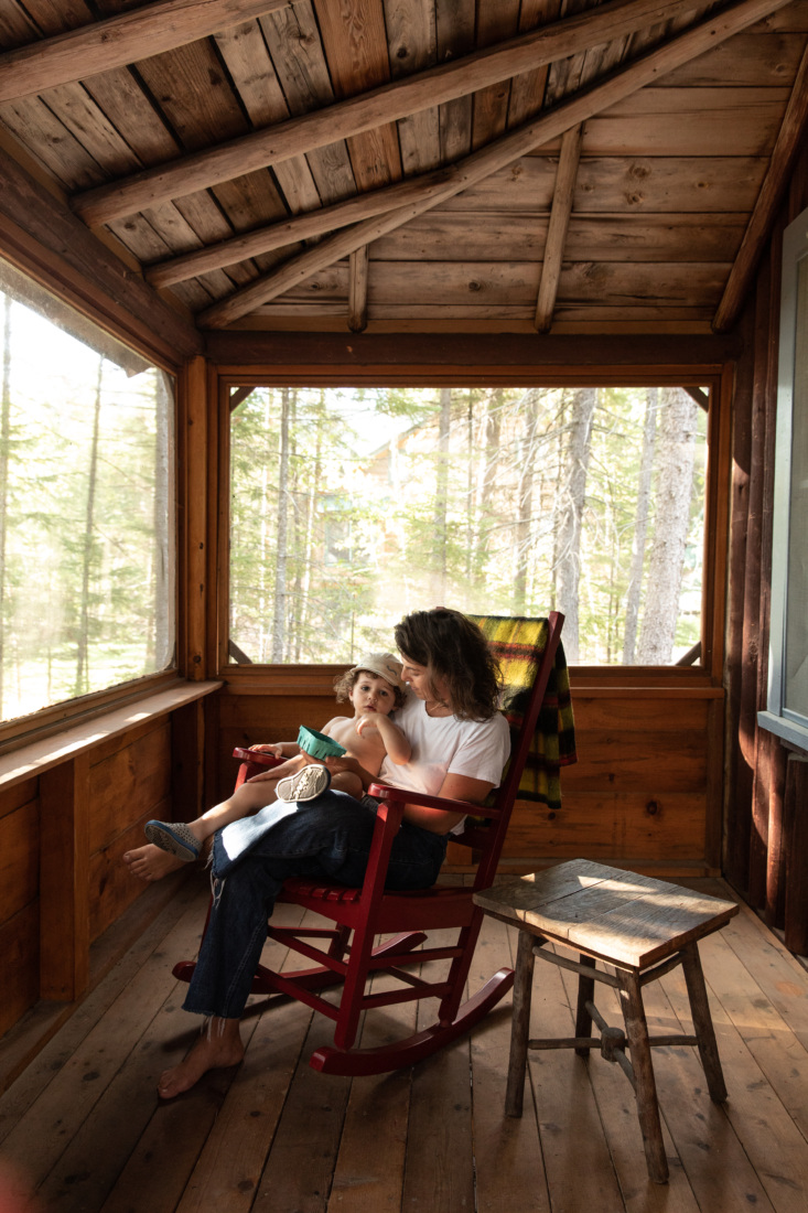 Porch of Jocelyn Dickson Maine Rock Camp, Photo by Greta Rybus for Remodelista