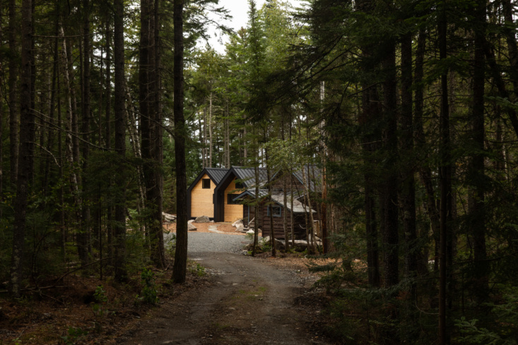 Exterior of Jocelyn Dickson Maine Rock Camp, Photo by Greta Rybus for Remodelista