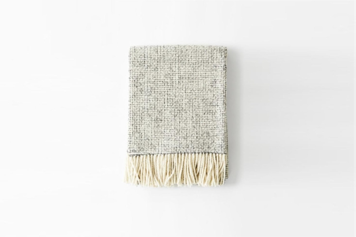 Mourne Textiles Mended Tweed Blanket Charcoal Grey Handwoven