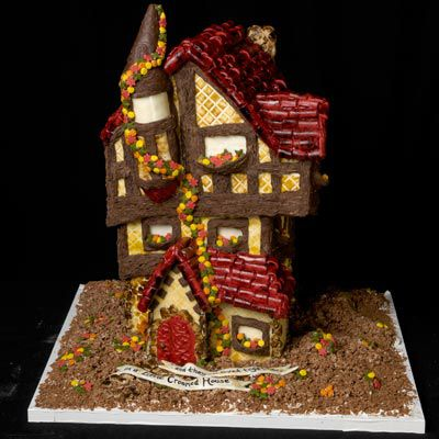 Cool gingerbread house.
