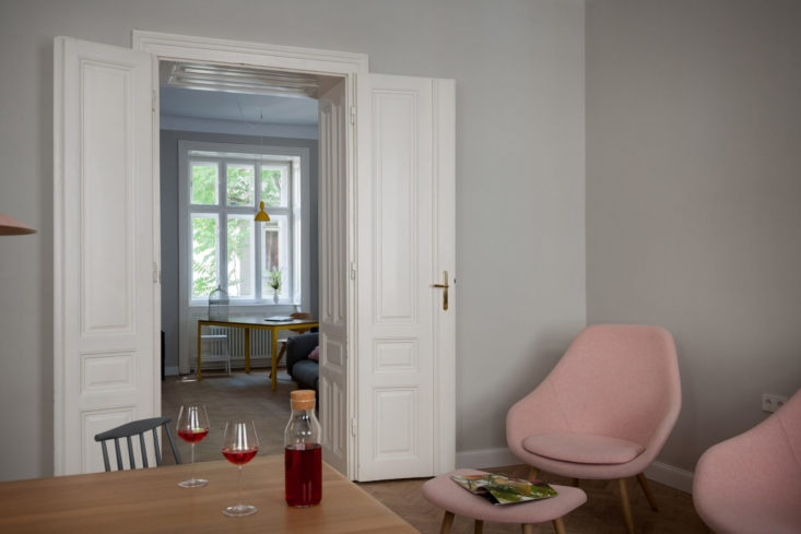 Vienna Apartment AB by Kombinat, Pink Chairs