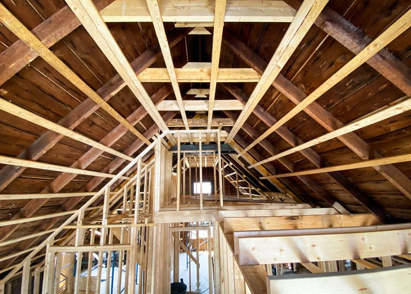 vaulted ceiling framing, Seaside Victorian Cottage, Queen for a New Day, Nov/Dec 2020