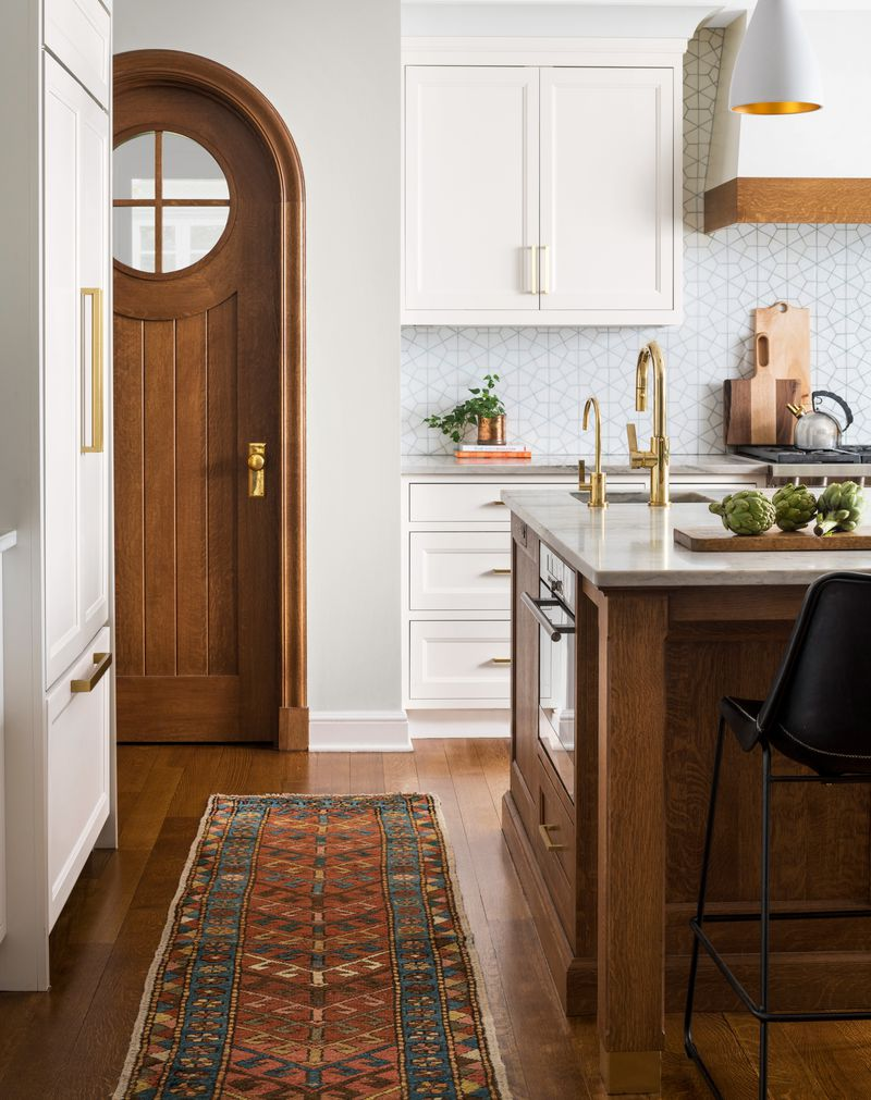 view of pantry door, kitchen remodel in Larchmont, NY, Light touch, Nov/Dec 2020