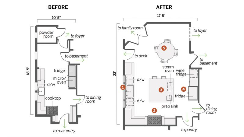 floor plans, kitchen remodel in Larchmont, NY, Light touch, Nov/Dec 2020