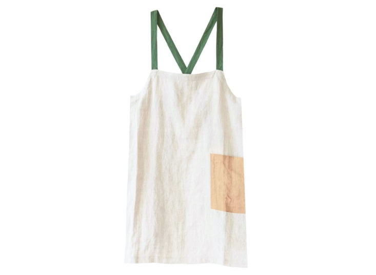 Criss Cross Apron Brooklyn Fit in Greenery by Pillowpia