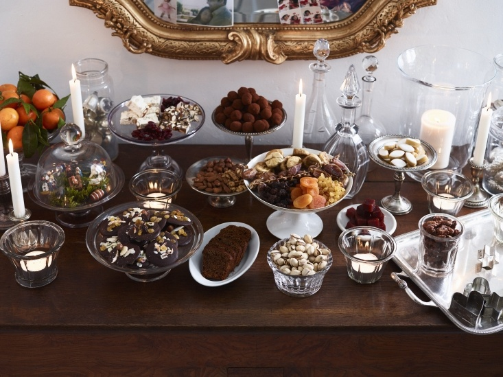 Sideboard of French holiday treats: Christmas in Burgundy with The Cook's Atelier. Photograph by Anson Smart.