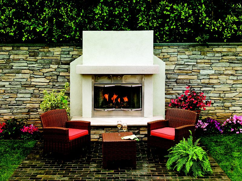 Gas Fireplace In Patio