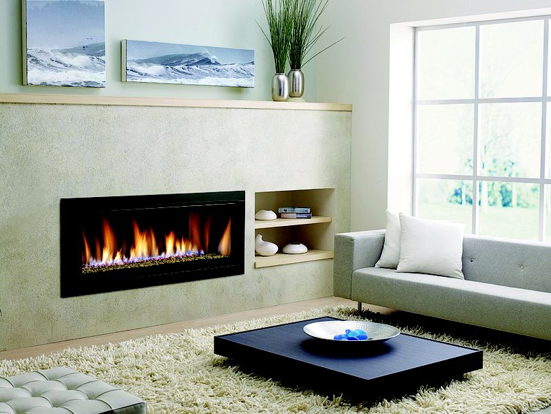 Gas Fireplace In Modern Living Room