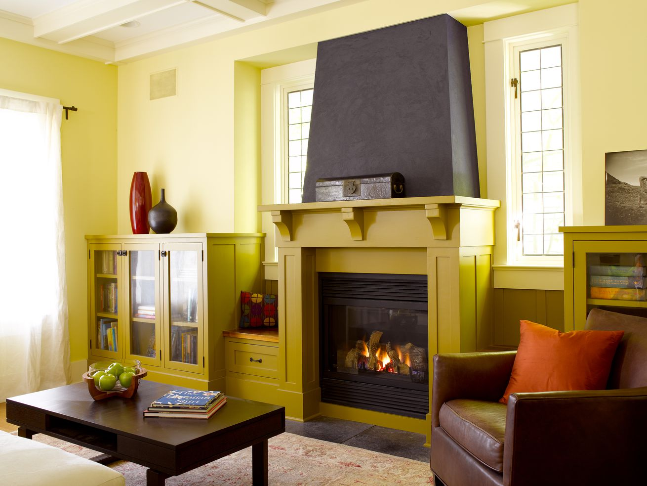 Gas Fireplace in Living Room of Home