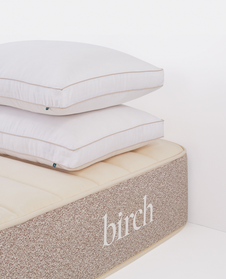 Birch Natural Mattress and Eco-Rest Pillows and Organic Pillows by Birch Living